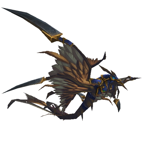 Armored Blue Dragonhawk