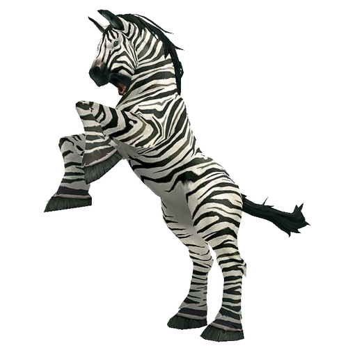 Unsaddled Striped Horse