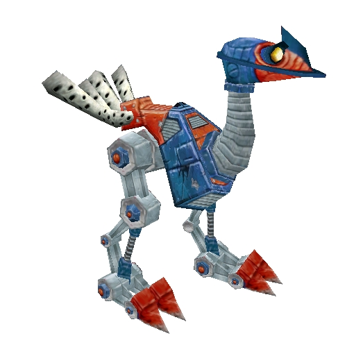 Red and Blue Mechanostrider