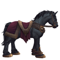 Black Horse w/ Burgundy Saddle