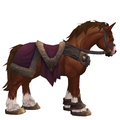 Chestnut Horse w/ Burgundy Saddle