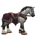 Grey Horse w/ Burgundy Saddle